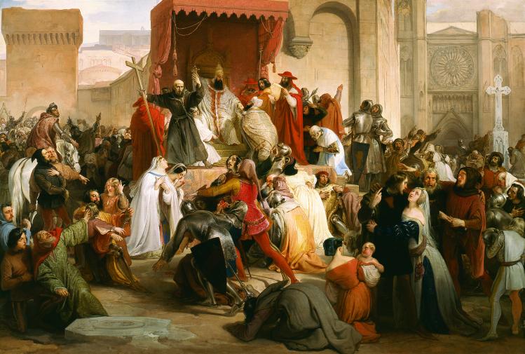 Papa Urbano II sulla piazza di Clermont |Francesco Hayez | mostre Milano