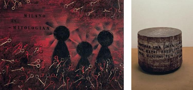Milano et - mitologia olio e cera su tavola / linea m 7200 cilindro zinco fogli piombo