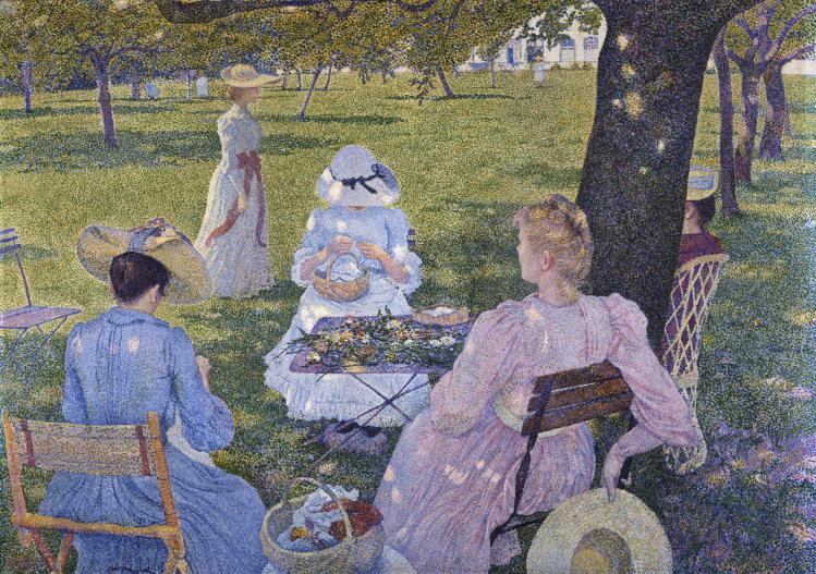 Famiglia in giardino | Théo Van Rysselberghe | mostre Verona