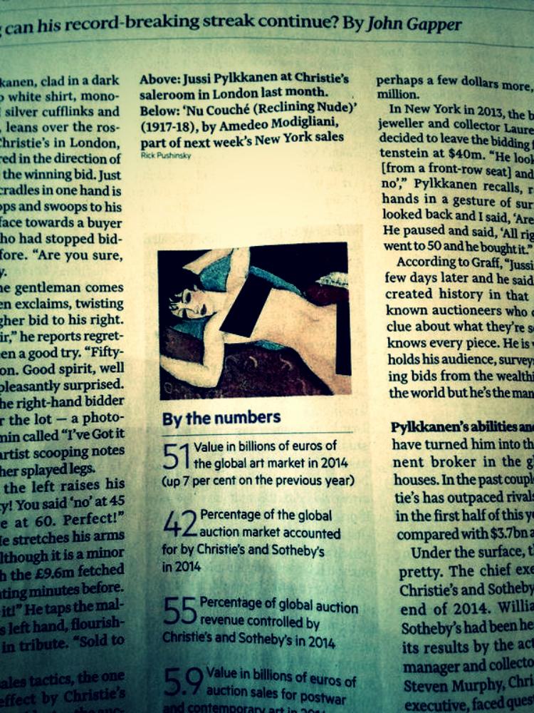 Nudo Rosso | Amedeo Modigliani | Financial Times