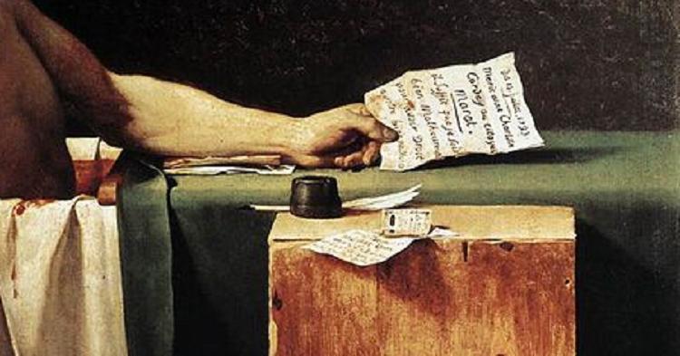 morte Marat Jacques-Louis David