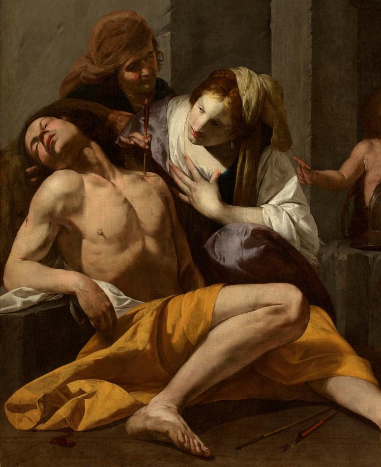 Antonio de Bellis, saint Sébastien soigné par Irène, vers 1620 - 1630, huile sur toile, 154 x 129 cm, Lyon, musée des Beaux-Arts, Photo © Alain Basset
