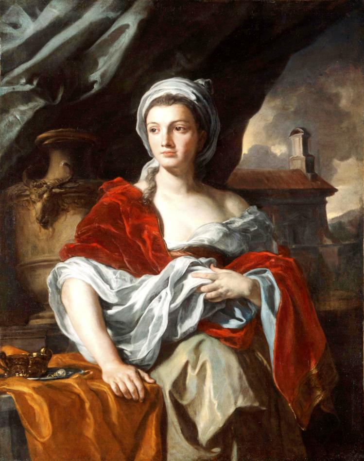 Francesco Solimena, Portrait de femme, après 1705, huile sur toile, 129 x 100 cm, Toulouse, musée des Augustins, Photo © Daniel Martin