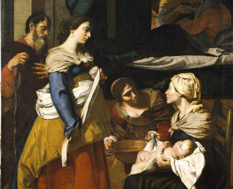Francesco Guarino, La Naissance de la Vierge, vers 1640, huile sur toile, 170 x 120 cm, Naples, Collection privée, Photo © Droits réservés