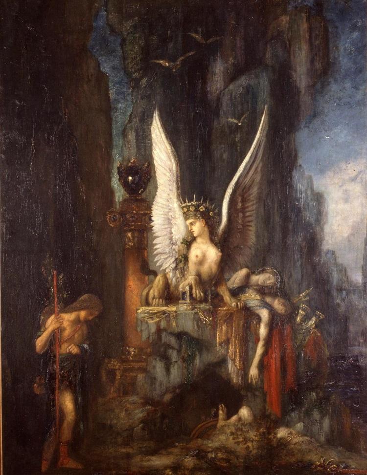 Gustav Moreau: Le Voyageur ou Oedipe, voyageur. Musée de La Cour d'Or - Metz Métropole