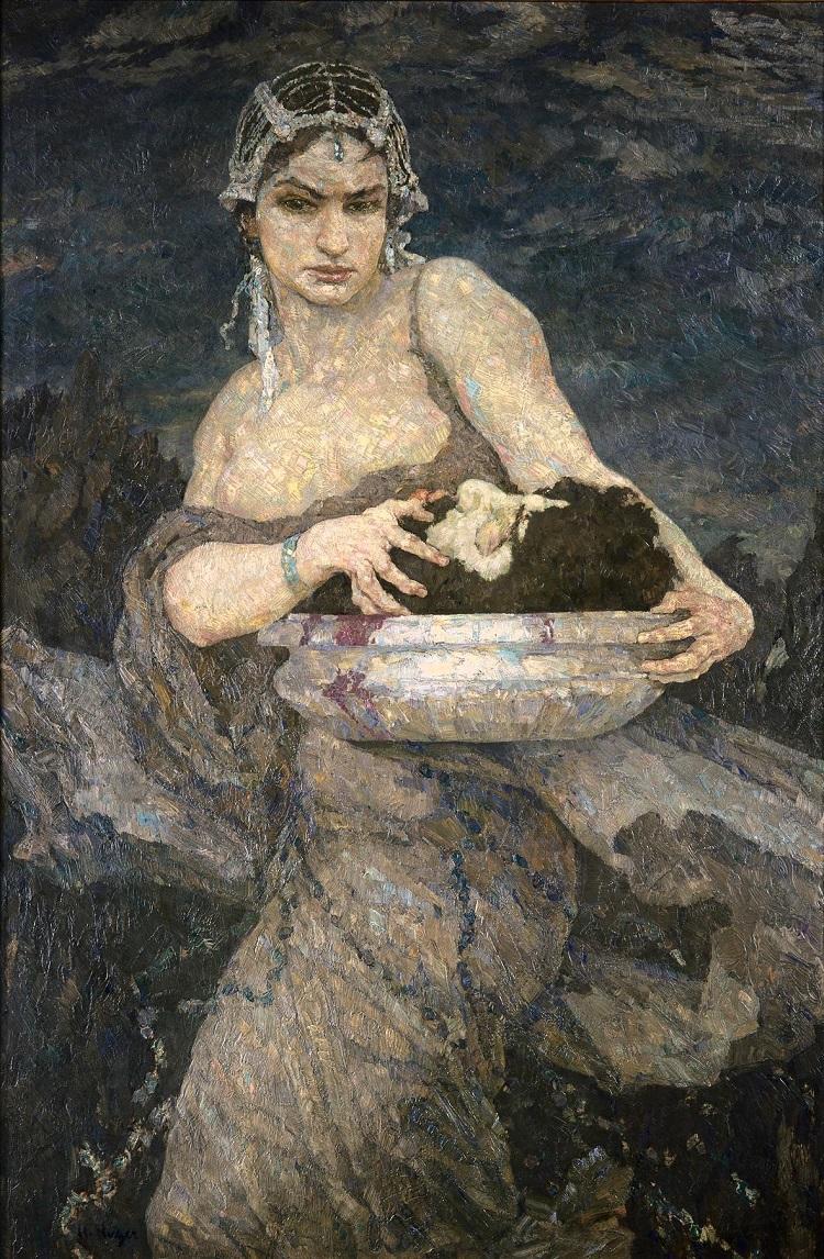 Hans Unger: Salomé, 1917, Städtische Galerie Dresden - Kunstsammlung, Museen der Stadt Dresden.