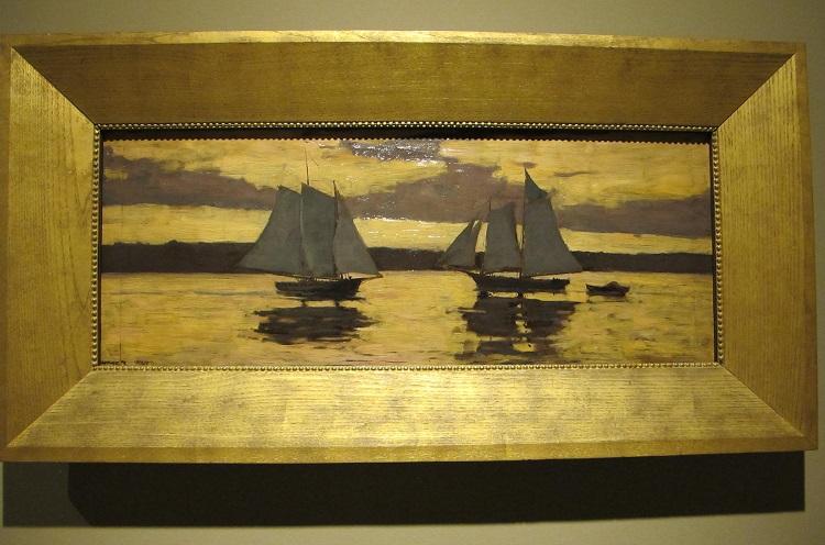 "Winslow Homer, ""Gloucester, barche da pesca a ltramonto"" (1884) - Boston, Museum of Fine Arts"